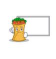 pose with board kebab wrap character cartoon vector image vector image