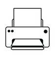 printer with paper office supply stationery work vector image vector image