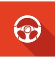 Racing steering wheel vector image vector image