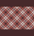red plaid fabric texture background seamless vector image vector image