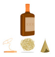 roll-field indian wigwam lasso whiskey bottle vector image vector image