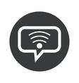 Round dialog Wi-Fi icon vector image vector image