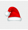 santa claus red hat isolated on transparent vector image