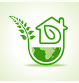 save nature concept with eco home stock vector image vector image