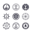 Sea port label set vector image
