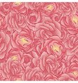 Seamless floral pattern flowers roses vector image