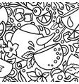 seamless pattern aroma tea vector image