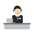 services operator isolated icon vector image vector image