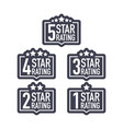 set a rating stamp badge hotel rating vector image
