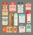 set beautiful vintage luggage tag vintage