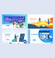 set landing page template header template vector image vector image