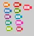 set of abstract colorful sale stickers multicolor vector image vector image