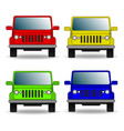 set of colorful cars front view vector image vector image