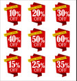 set of offers and sale discount red banners vector image