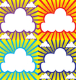 Set sky with clouds vector image