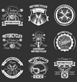set vintage motorcycle service labels vector image
