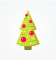 simple christmas tree in flat style vector image vector image