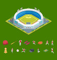 soccer or baseball park or stadium and elements vector image vector image
