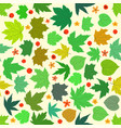 spring maple leaves seamless pattern vector image vector image