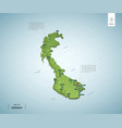 stylized map norway isometric 3d green map vector image vector image