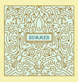 summer label with swirls ornaments vector image vector image