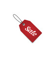 tag label sale vector image vector image