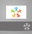 team work logo vector image