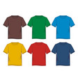 tempalate t-shirt colorful vector image vector image