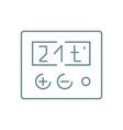 temperature adjustment linear icon concept vector image vector image
