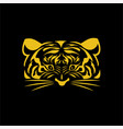 tiger gold face logo vector image