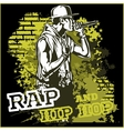 urban rapper - hip hop vector image