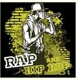 urban rapper - hip hop vector image vector image