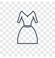 vintage dress concept linear icon isolated on vector image