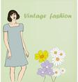 vintage fashion vector image vector image