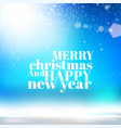 winter background merry christmas and new year vector image vector image