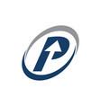 process planner center letter p vector image