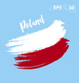 poland flag brush strokes painted vector image