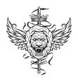 Vintage symbol of a lion head vector image