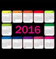 calendar grid for 2016 Rigorous design vector image