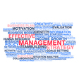 Effective management vector image