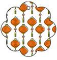 star tag japanese lantern decoration pattern vector image