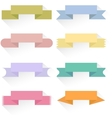 Modern colored ribbons and banners for your text vector image