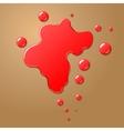 Red blood blot vector image