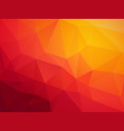 abstract red orange polygonal background vector image vector image