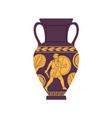 ancient roman amphora antique vase of old rome vector image vector image