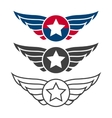 Aviation emblem set badges or logos vector image