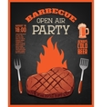 Barbecue open air party flyer template Grilled vector image