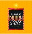 biggest diwali sale poster design with cracker vector image
