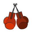 boxing gloves isolated vector image