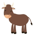 bull cartoon icon vector image vector image